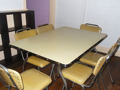 vintage original 50s 60s retro funky dining table and chair dining set