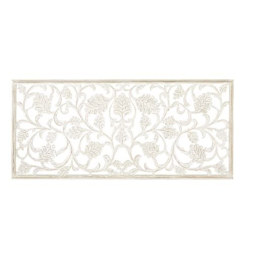 White Carved Wall Art 180x80 On Maisons Du Monde Take Your Pick From Our Furniture And Accessories And Be Inspired Wanddekoration Wanddeko Deko