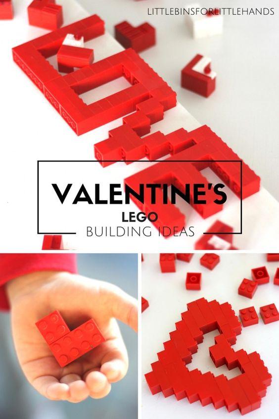 LEGO Valentines Day Building Ideas for Kids STEM