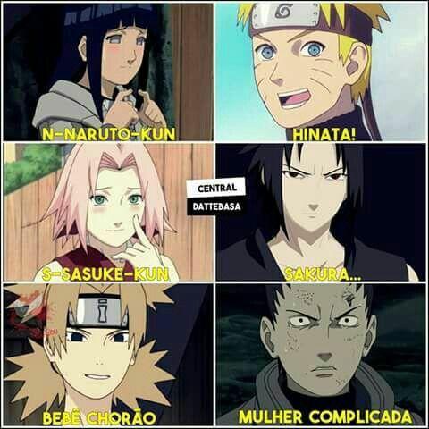 Apelidos Carinhosos Naruto Engracado Memes Engracados Naruto Anime