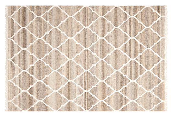 Horace Flat-Weave Rug, Gray on OneKingsLane.com