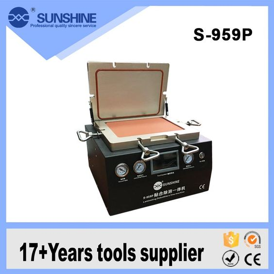 Hot sale SUNSHINE S959P lower noise 13 inch mobile phone lcd OCA glue vacuum laminating lcd repair machine