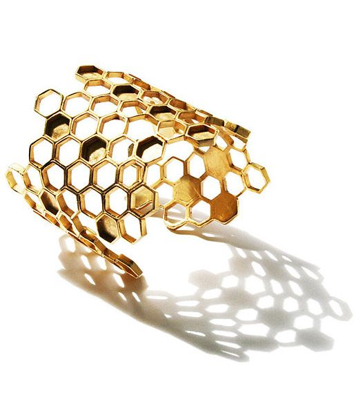 golden honeycomb cuff