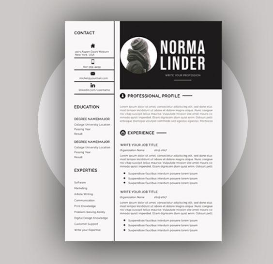 Resume Template Word Professional Resume Template Word Etsy Resume Template Word Resume Template Professional Modern Resume Template