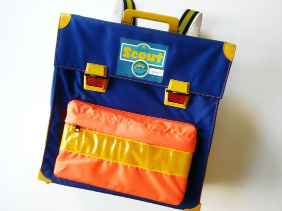 Vintage Schultaschen - ScOuT SchulrAnzen 70er VinTage Tasche 80er retro - ein Designerstück von LIEBKIND-bremen bei DaWanda