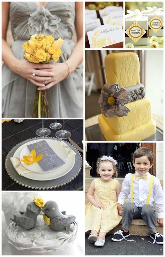 Yellow & Grey Wedding <3  #springwedding #weddinginspiration