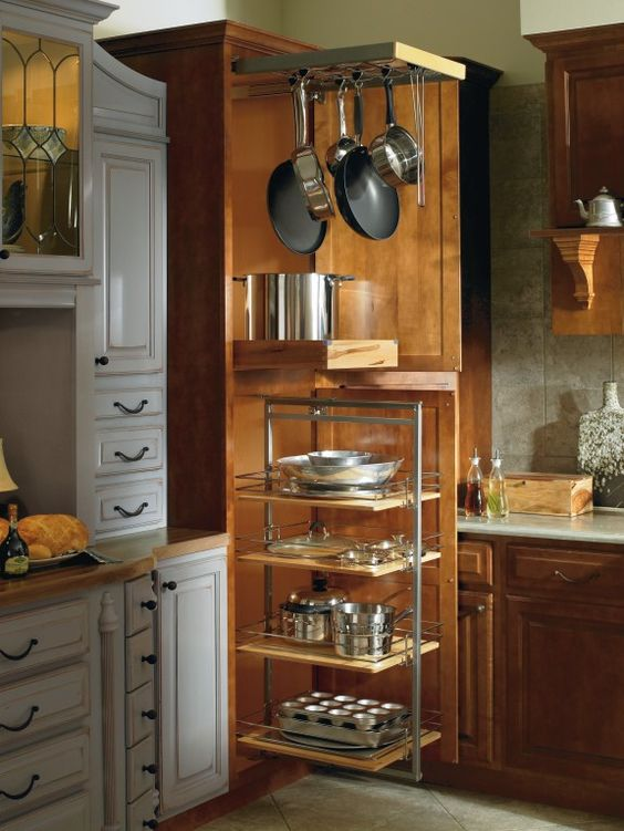 Thomasville Cabinetry 39 S Utility Storage Cabinet With Pantry Pullout Gives You More Access To All