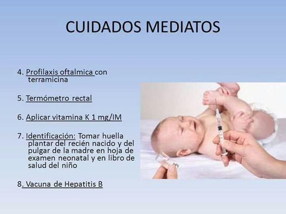 Recien nacido cuidados mediatos   Notas de Enfermeria