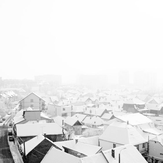 High Key - Snow over the city by ~hellenFq on deviantART
