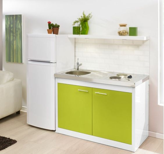 la kitchenette moderne quip e et sur optimis e kitchenettes and cuisine. Black Bedroom Furniture Sets. Home Design Ideas