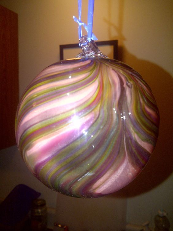Textured glass ornament