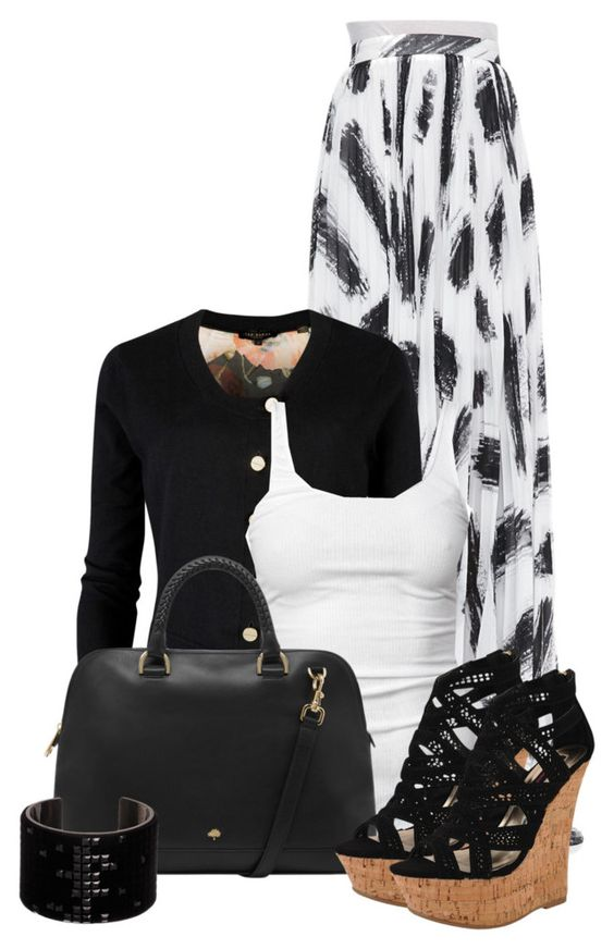 """""""Untitled #3248"""" by cassandra-cafone-wright ❤ liked on Polyvore featuring Alice + Olivia, Ted Baker, James Perse, Mulberry, Dollhouse and Swarovski"""