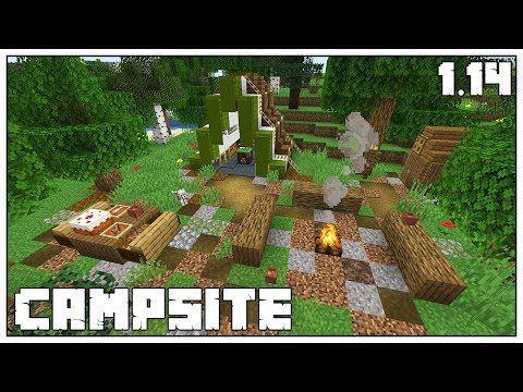 Minecraft 1 14 How To Build A Campsite New Campfire