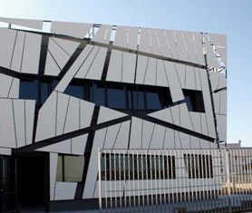 Modula Headquarters Italy Corian Cladding No Really Dupont Corian Pinterest Surface