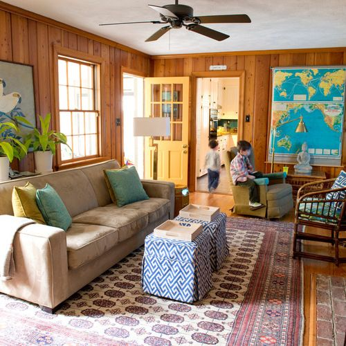 Wood Walls Living Room Design Ideas knotty pine paneling home design ideas, pictures, remodel and