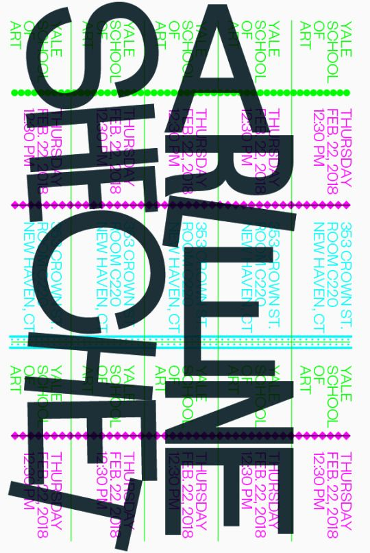Yale Graphic Design Poster Fonts Graphic Design Typography