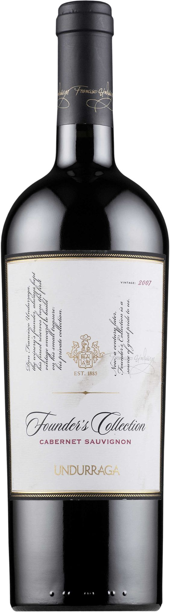 Kết quả hình ảnh cho undurraga founder collection cabernet sauvignon