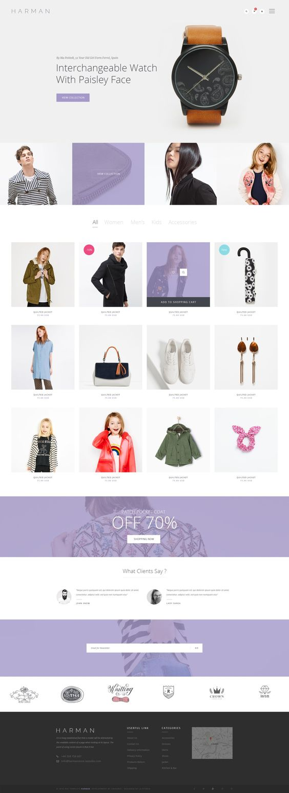 25 Fashion Store E commerce PSD Layouts for Inspiration - DezineMag