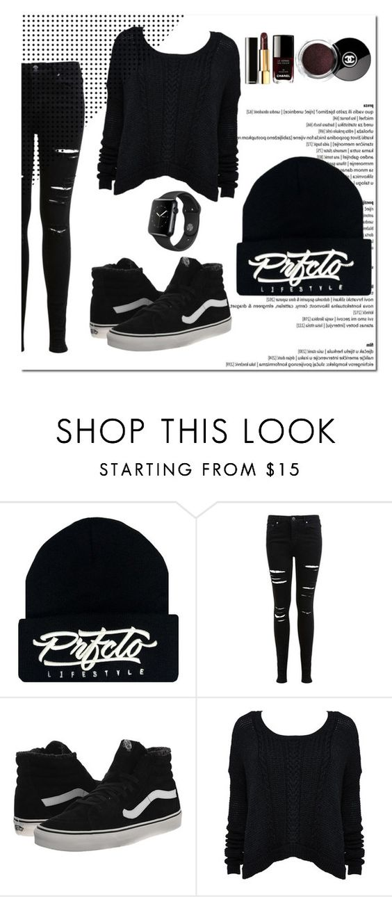"""""""PrfctoLifestyle"""" by prfctolifestyleclothing on Polyvore featuring Miss Selfridge, Vans, Alice + Olivia and Chanel"""