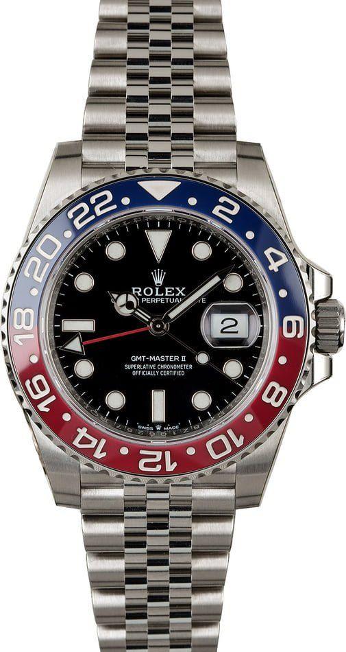 New Gmt Master Ii Pepsi On Oyster Bracelet Bob S Watches Rolex Blog Rolex Watches For Men Rolex Rolex Gmt