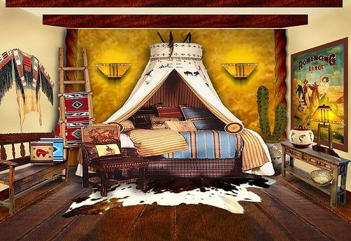 Delightful This Native American Inspired Bedroom Has A Southwestern Twist On A Canopy  Bed. Love The