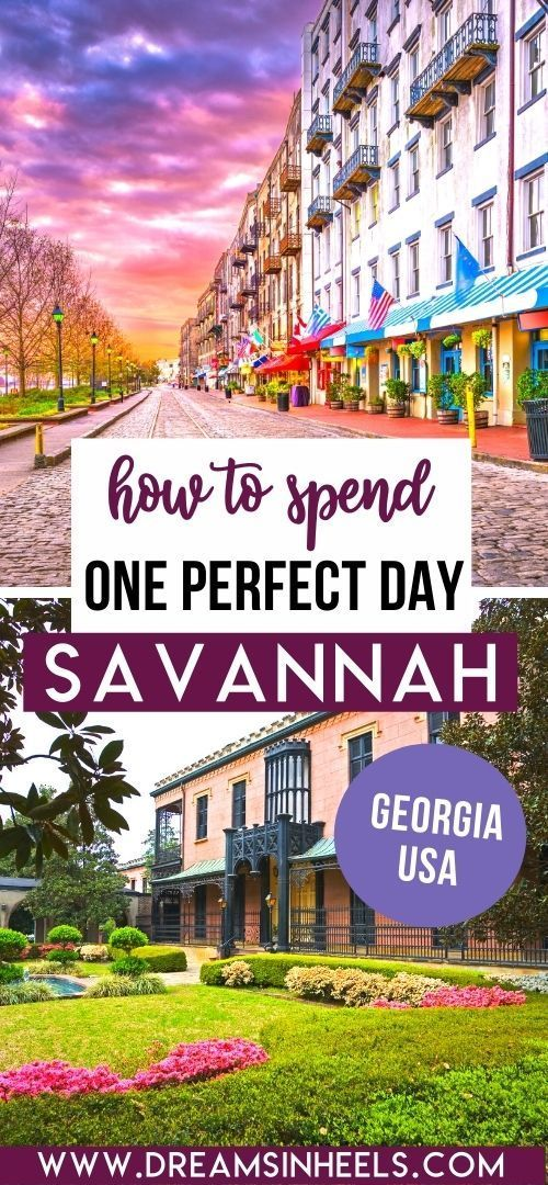 One Day In Savannah Here Are The Best Things To Do In Savannah Ga If You Only Have 24 Hours Savannah Georgia Travel Savannah Chat Usa Travel Destinations