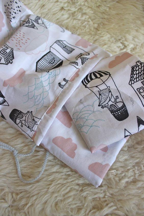 Ikea Kinderbettwäsche kinder bettwäsche wolken co grösse 110x125cm 35x55cm passend