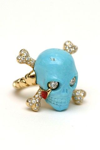 bague dior joaillerie en turquoise or jaune diamants et laque