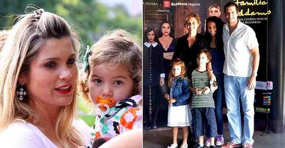 Flávia Alessandra e sua filha, Adriana Esteves e Brichta seus filhos