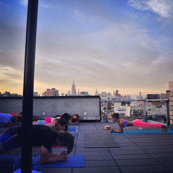 Looks like a beautiful place to have class.  #Plank #yoga