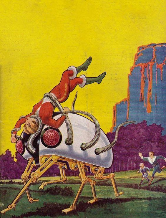 Frank R. Paul - The Robot Technocrat, 1933. / The Science Fiction Gallery