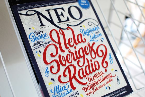 Hand-drawn typographic cover for Magasinet NEO. on Behance