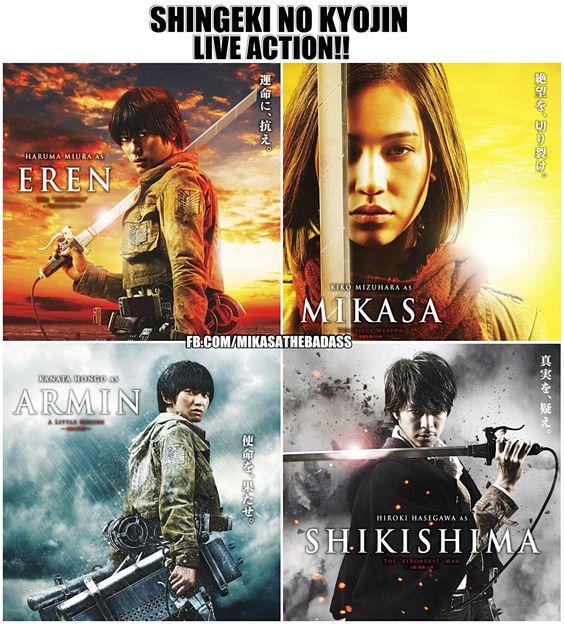 Shingeki No Kyojin Live Action Actors. (1) Tbh, I'm A Bit