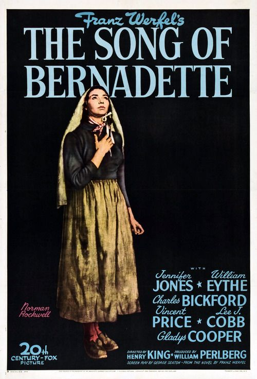 Movie Poster, The Song of Bernadette, 1943 Illustration by Norman Rockwell