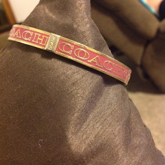 SOLDPink and Gold COACH Bangle Pink and Gold bangle Coach Jewelry Bracelets
