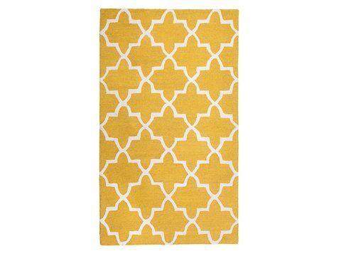 Teppich Gelb 160 X 230 Cm Marokkanisches Muster Kurzflor Silvan Teppich Gelb Teppich Handgefertigte Teppiche