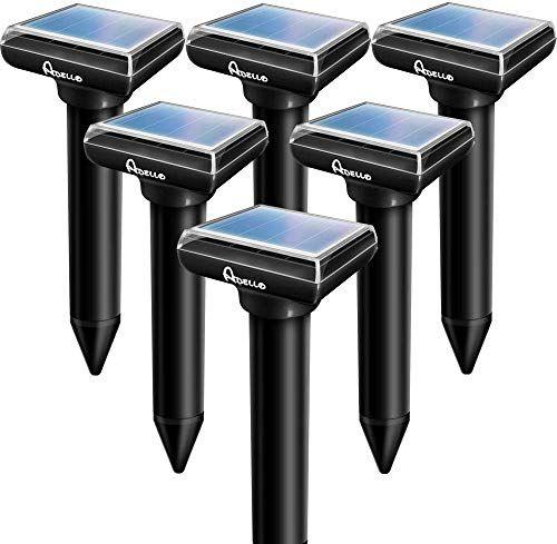 New Apello 6 Pack Solar Powered Mole Repellent Vole Repellant Mole Repeller Gopher Repellent Ultrasonic Chip In 2020 Chipmunk Repellent Mole Repellent Rodent Repellent