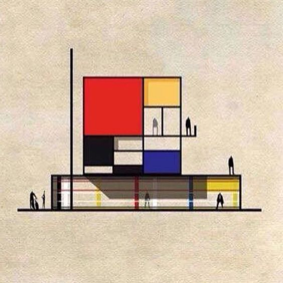 #Mondrian | World famous Design and Architecture | bauhaus-movement.com