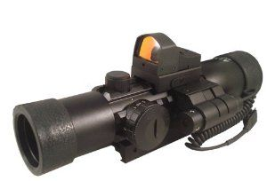 """Tactical illuminated Rifle Scope + Aiming Laser + Red Dot Backup Sight + Mount For Ruger 10/22 SR22 by m1surplus. Save 44 Off!. $149.95. Tactical illuminated Rifle Scope + Aiming Laser + Red Dot Backup Sight + Mount For Ruger 10/22 SR22. Includes the following 4 items: #1. AIM 4x28 Tactical illuminted Scope w/ Integral Trirails, Made by AIM Sports, Material: Aluminum, Color: Matte black, Weight: 13.6 Ounces, Length: 8"""", Height: 3"""", Tube Diameter: 30mm, Magnification: 4x power, Obj..."""