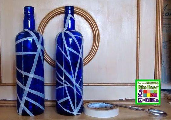 Fika a Dika - Por um Mundo Melhor: Pintura em Garrafa de Vidro