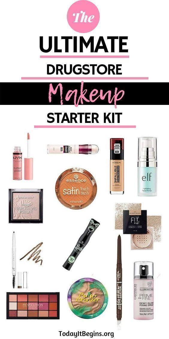 The Ultimate Drugstore Makeup Starter Kit In 2020 Makeup Starter Kit Drugstore Makeup Drugstore Makeup Dupes