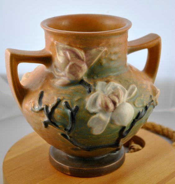 Roseville Pottery Vase, Magnolia: