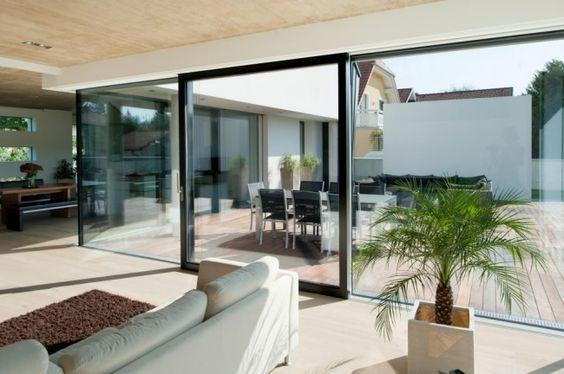 Moderne innentüren stadtvilla  Fenster Türen ganzglassystem hersteller Josko terrasse alu rahmen ...