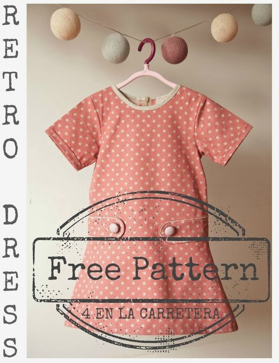 4ELC Free Retro Dress Pattern & Tutorial