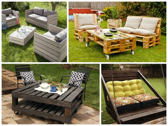 Garden furniture ideas from repurposed pallets pallet for Flower beds out of pallets