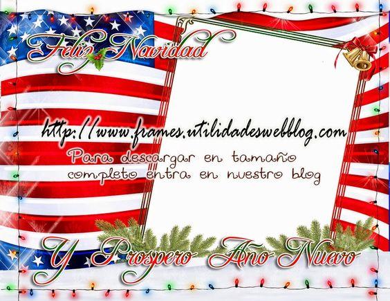 Marco con la Bandera de Estados Unidos al estilo Navideño | Frames