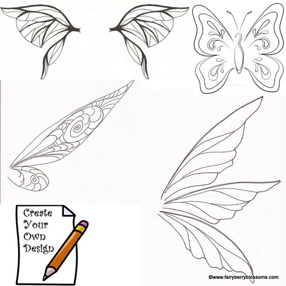 fairy wing template | Go Back > Pix For > Tinkerbell Wings ...