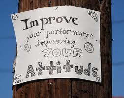 Improve the attitude