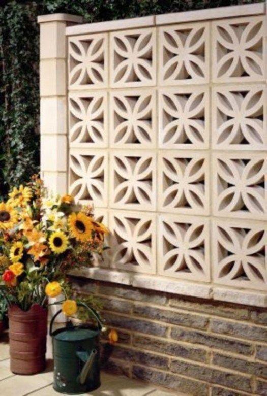 Awesome Breeze Block Wall Backyard Inspiration Ideas 09 Breeze Block Wall Breeze Blocks Brick Wall Decor