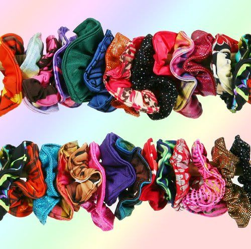 I miss scrunchie's! You could also wear them as an accessory on your wrist!